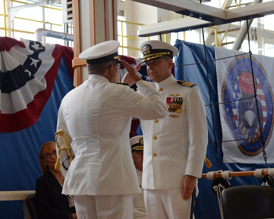 VIDEO: New commander takes over 'finest shipyard in the world'