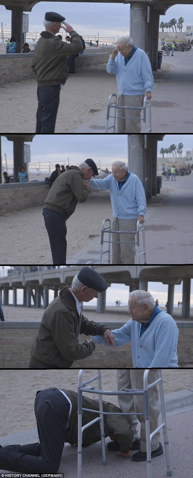 6U0mUOd - Holocaust Survivor Reunites & Salutes U.S. Soldier That Liberated Him