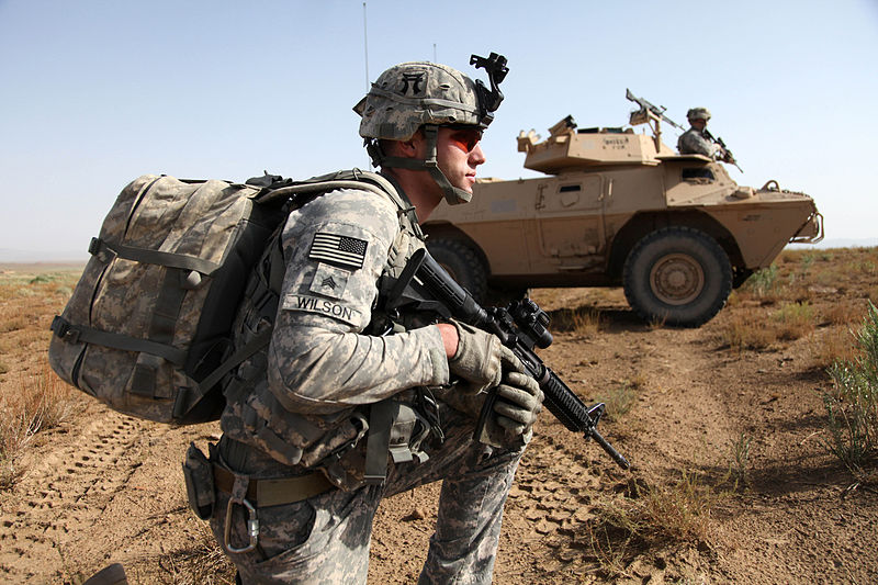 U.S. Army Sgt. Joseph Wilson with Charlie Company 3rd Battalion 187th Infantry Regiment 3rd Brigade 101st Airborne Division