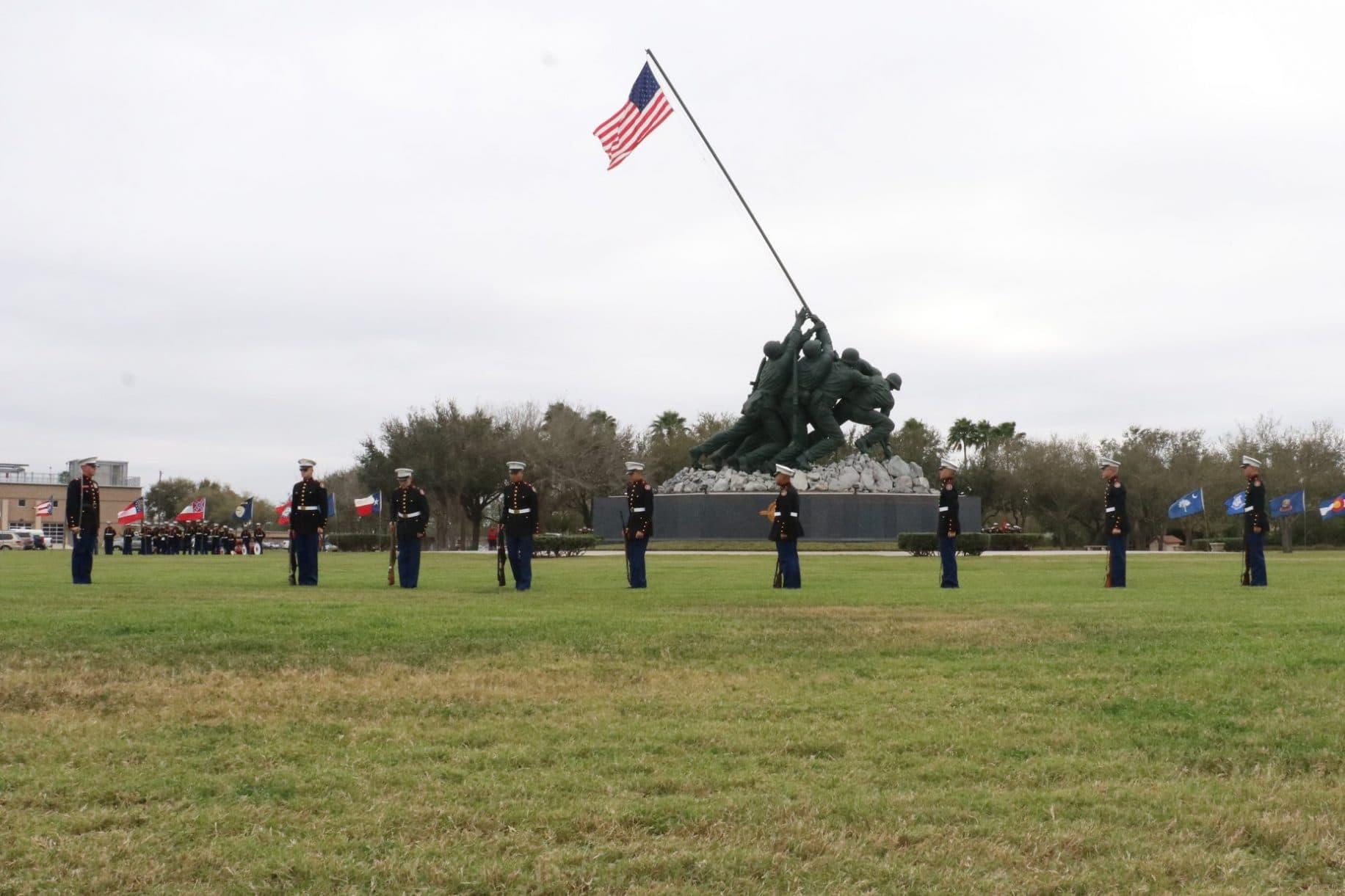 Marine Military Academy commemorates the 75th anniversary of the Battle of Iwo Jima