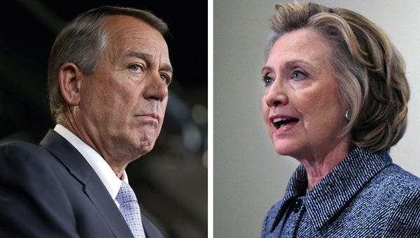 Hillary Clinton Boehner