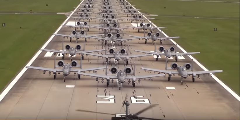 A 10 Elephant Walk - U.S. Air Force 23d Wing Conducts Elephant Walk To Demonstrate Its Rapid Deployment Ability