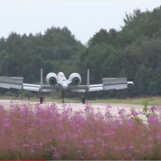 A-10 Thunderbolts Landing in Highway