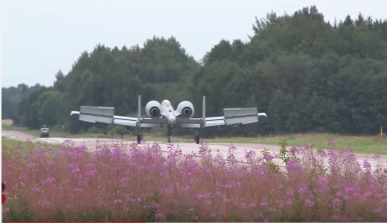 Watch A-10 Thunderbolts Perform Incredible Landing In Jagala Highway In Northern Estonia Featured