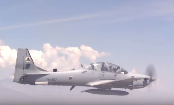 Watch An A-29 Super Tucano Aircraft Drop A Bomb In Afghanistan During Training Featured