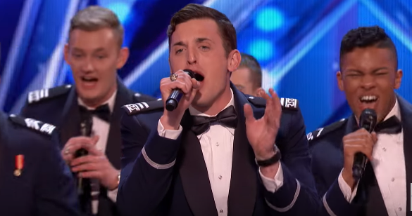 AFT - Air Force Academy a cappella singing group performs on 'America's Got Talent'