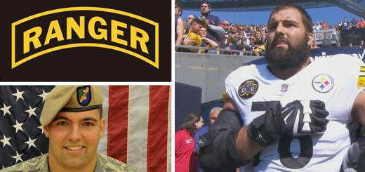 Alejandro Villanueva 520x245 - NFL player, Army Ranger veteran Alejandro Villanueva is only Steeler to be on field for US national anthem; rest stay in locker room (VIDEO)