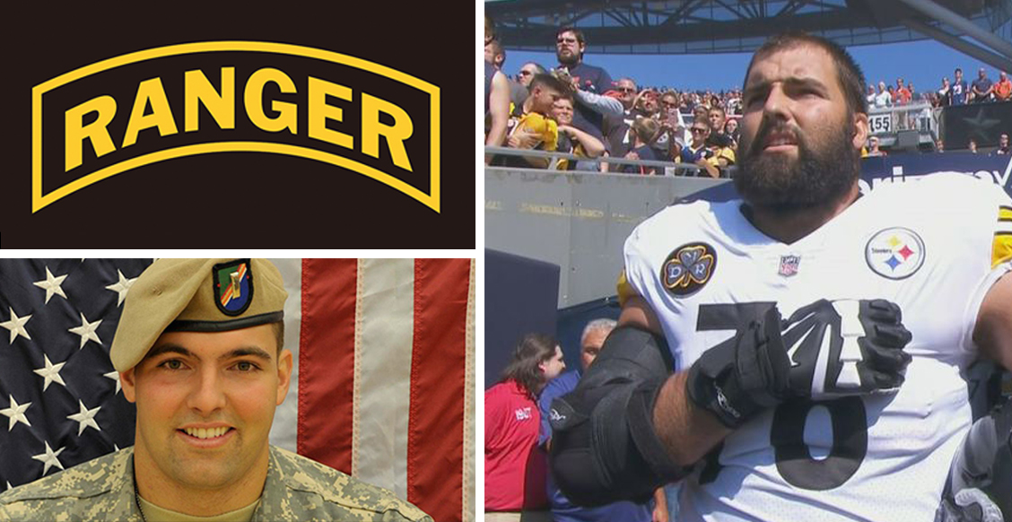NFL player, Army Ranger veteran Alejandro Villanueva is only Steeler to be on field for U.S. national anthem; rest stay in locker room (VIDEO) Featured
