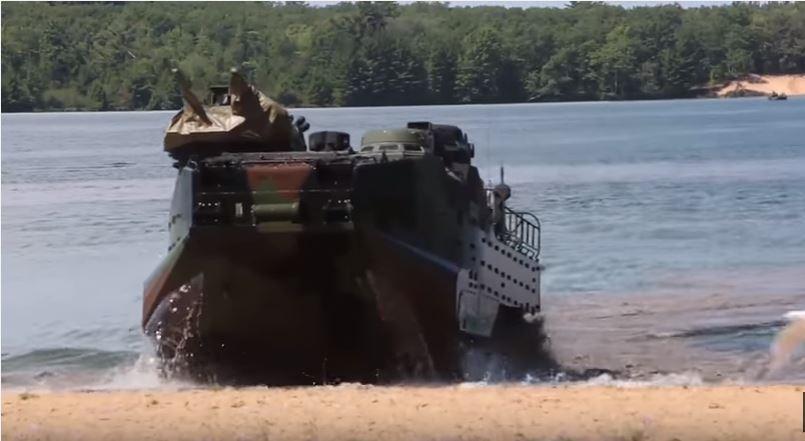 Watch U.S. Marines Practice A Beach Landing In Amphibious Assault Vehicles Featured