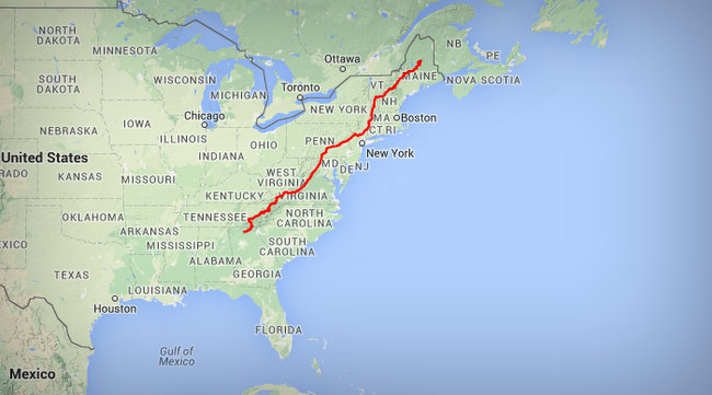 AppalachianTrail Map - Vet To Hike 2,100 Mile Appalachian Trail To Raise Money For Other Vets