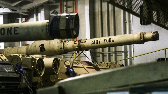 US Army shows off 'Baby Yoda' M1 Abrams tank