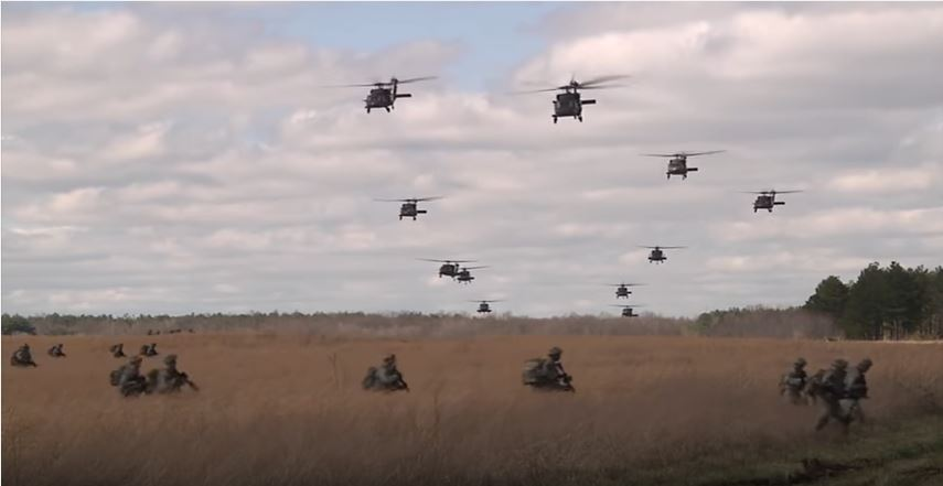 "Watch The U.S. Army ""Screaming Eagles"" Disembark From Black Hawk Helicopters During An Aerial Assault Training Exercise Featured"
