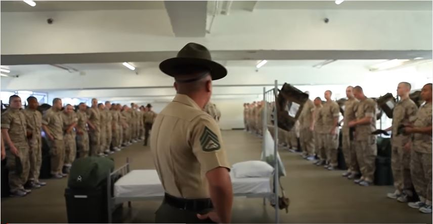 Black Friday - Watch as new US Marine Corps recruits meet their newly assigned drill instructors during Black Friday