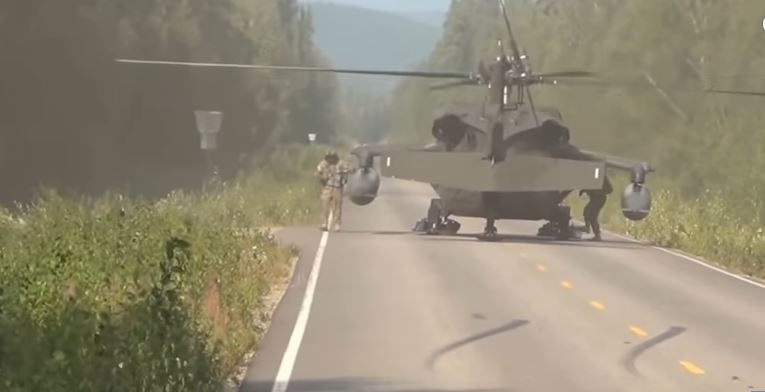 Watch This U.S. Army Black Hawk Helicopter Landing On A Highway While Assisting With A Medical Emergency Featured