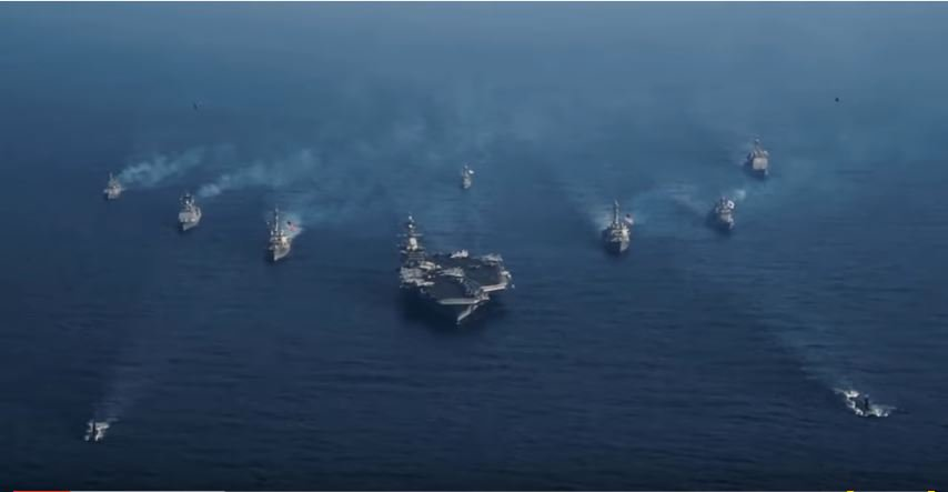 (VIDEO) U.S. Military Sends Strong Message To North Korea With Carrier Strike Group Operations Featured