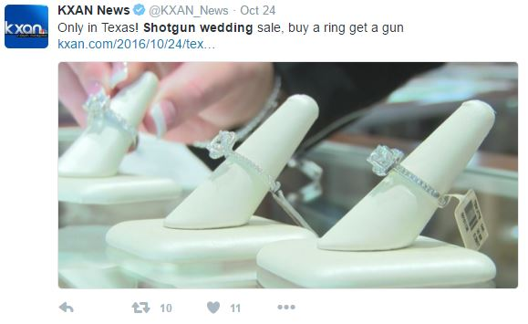 "Capture 165 - Texas Jewelry Store Giving Away Free Gun With The Purchase Of Engagement Ring At ""Shotgun Wedding"" Sale"
