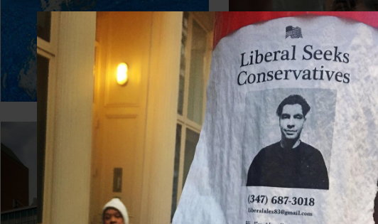 Liberal NYC Man Posts Fliers Looking For Conservative Perspective Featured