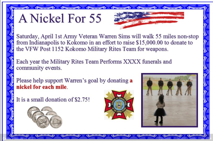 Army Veteran Walks 55 Miles Non-Stop To Raise Money For Local VFW Featured