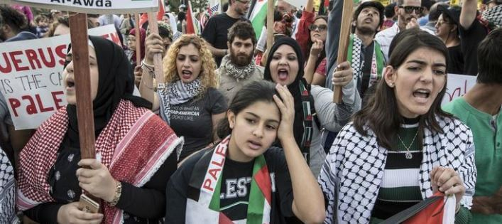 Capture 508 - Palestinian rights groups rally to tell Trump: Hands off Jerusalem