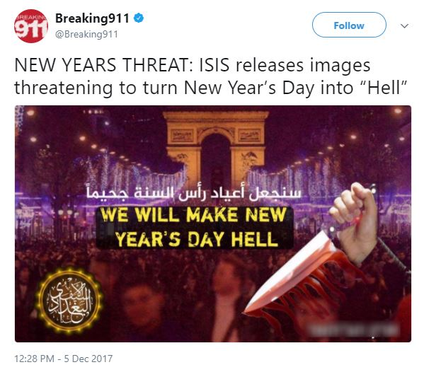 Capture 587 - ISIS threatens attacks on New Year's Day, the Vatican and the World Cup
