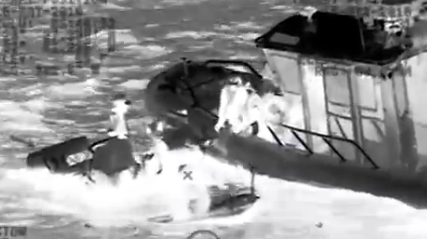 Video Of Coast Guard Rescuing Four People Stranded In Sinking Boat This Past Weekend Featured