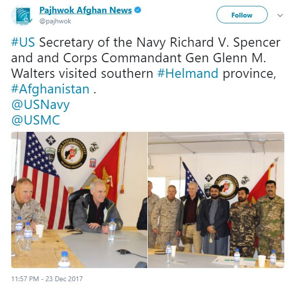 Capture 628 - People criticized the Navy secretary for carrying a pistol on Afghanistan base during visit