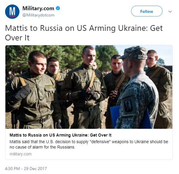 Capture 648 - Mattis tells Russia don't worry about US arming Ukraine - unless you're invading