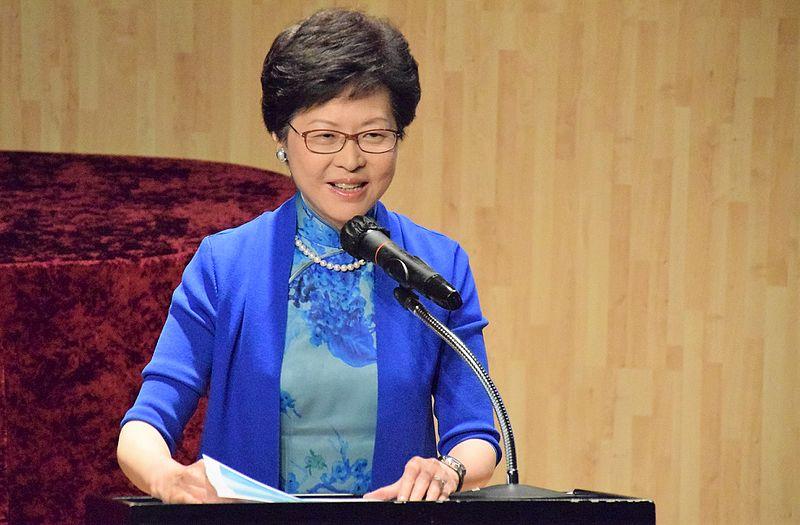 Hong Kong's leader hits out at Washington over human rights law