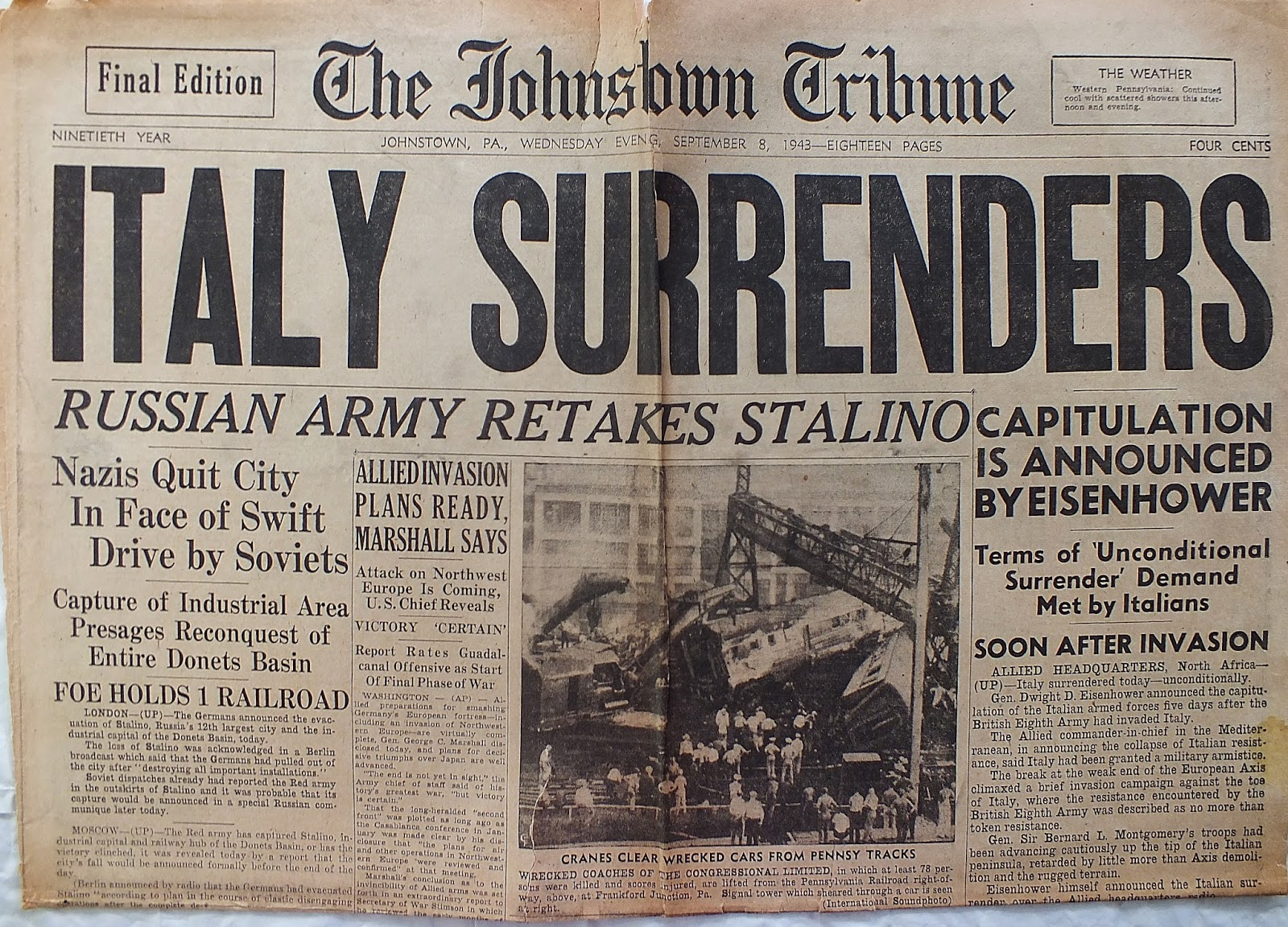 This Day In History: General Dwight D. Eisenhower Announces Italy's Surrender To The Allies In World War II Featured
