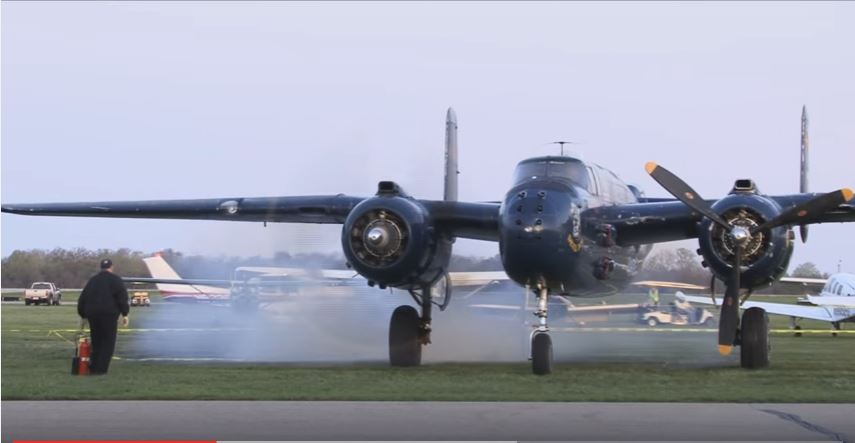 Doolittle Anniversary - Watch B-25 Mitchell Bombers Take Off Grimes Field On The Anniversary Of Doolittle's Raid