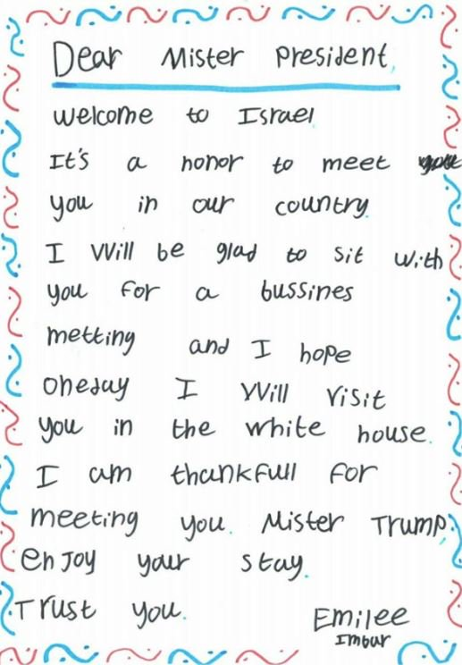 Emilee Imbar letter - President Trump Ditched The Media To Make A 14-Year-Old Cancer Patient's Dream Come True