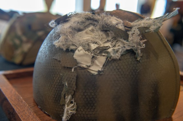 Photos Soldier Who Survived Headshot Receives Helmet That