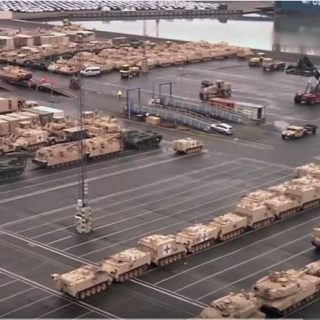 European Buildup 320x320 - Watch the U.S. Army unload equipment for one of the largest deployments of US forces into Europe since the Cold War