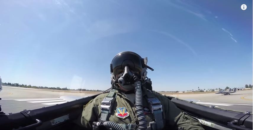 Incredible Cockpit View Of An F-15 Launch & Maneuvers Featured
