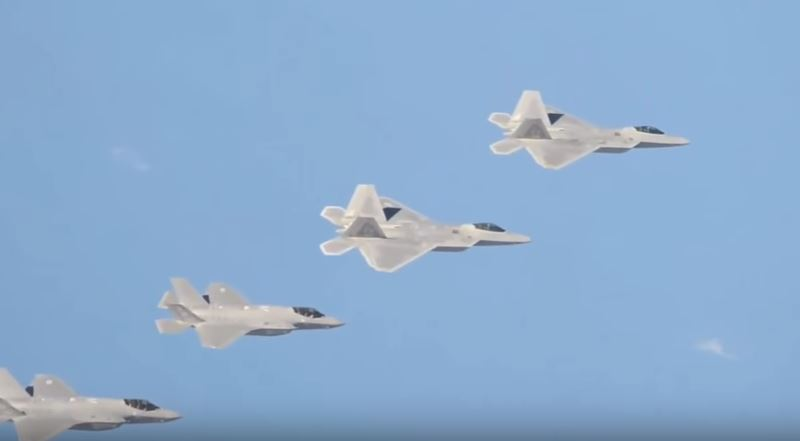 F 22 In Flight Formation - (VIDEO) One Of America's Deadliest Weapons Is About To Get Even More Powerful