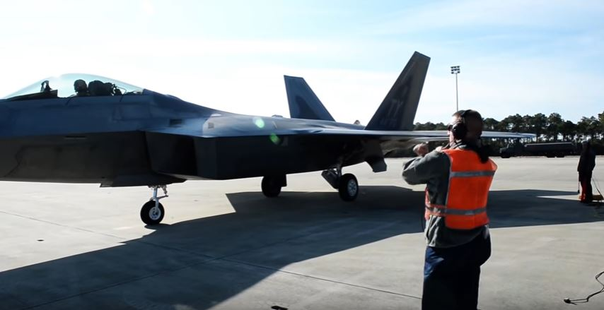 F 22 On Flight Line - Listen To What Different U.S. Air Force Personnel Have To Say About The F-22