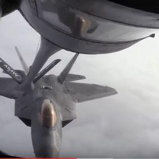 F-22 Raptor Midair Refueling