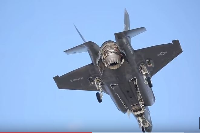 A Look At The U.S. Marine Corps F-35B Doing Vertical Landing Flight Training At Air Station Iwakuni Featured