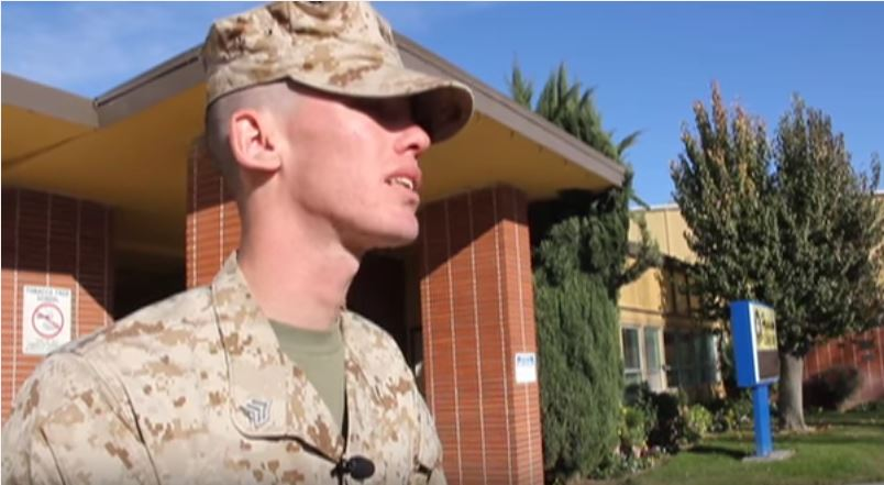 (VIDEO) Man Caught On Camera Lying About His Service In The Marines Featured