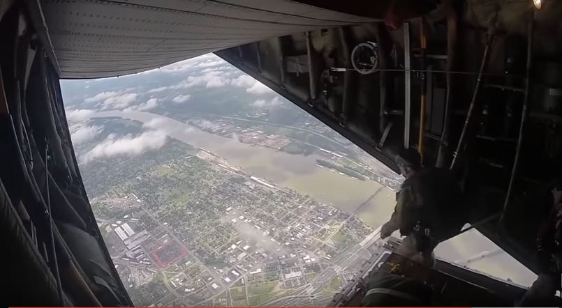 See U.S. Air Force 123rd Special Tactics Squadron Airmen While Conducting A Free-Fall Jump From Over Kentucky Featured