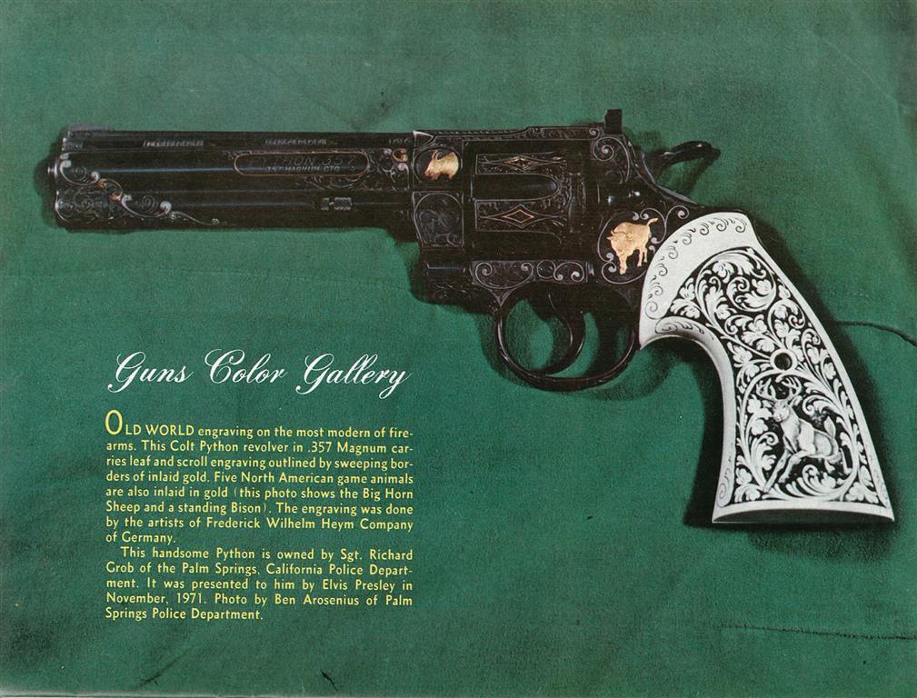 GLO12 M CU92 H - Elvis Presley's Extravagant Custom Handguns Are Up For Auction