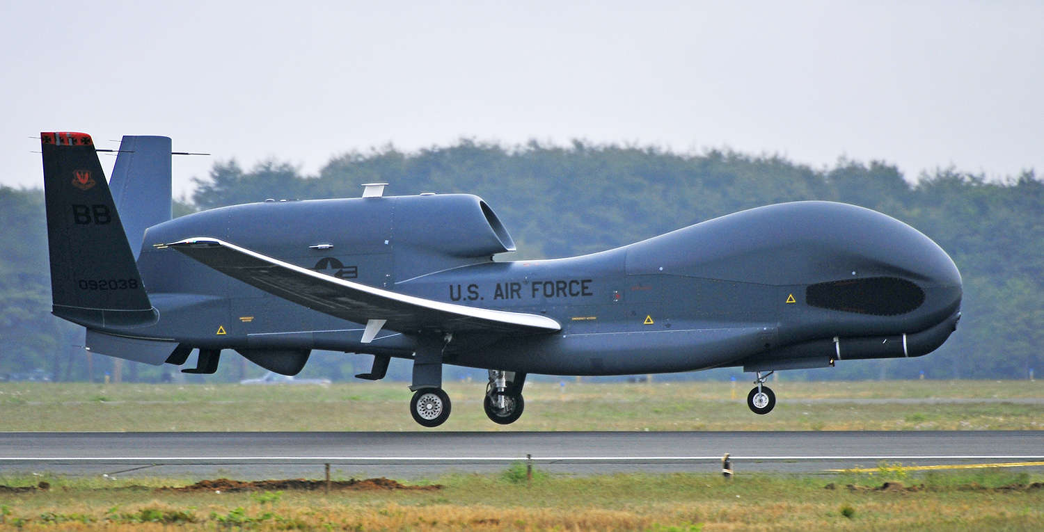 Global Hawk Landing Misawa Air Base Src USAF - How the United States Keeps an Eye on North Korea