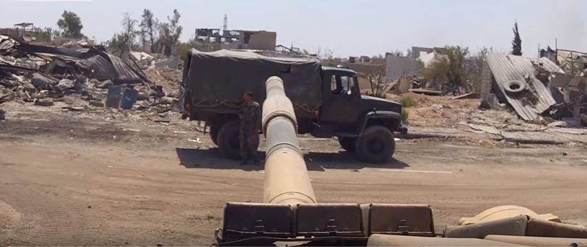 GoPro HD Video From A T-72 Tank As Syrian Troops Encircle & Destroy Rebels In Damascus Featured