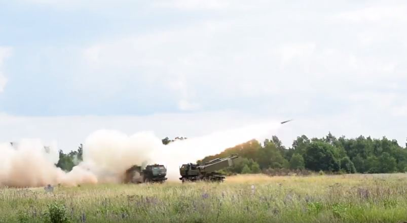 HIMARS 4 - Tennessee Army National Guard executes High-Mobility Artillery Rocket System fire mission in Poland