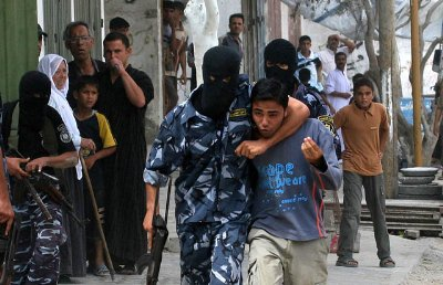 Hamas using children as human shields - even their own.