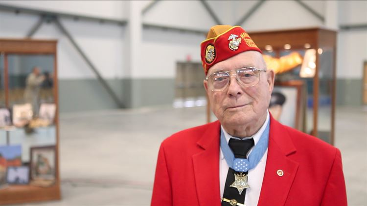 Iwo Jima 75th anniversary Battle's last living Medal of Honor recipient still working for military families, educating young people