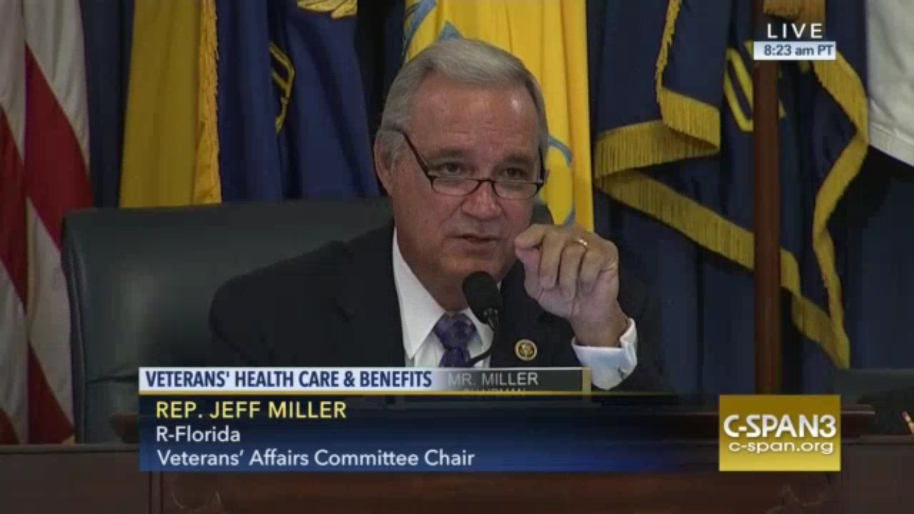 Rep. Jeff Miller During the meeting on Wednesday