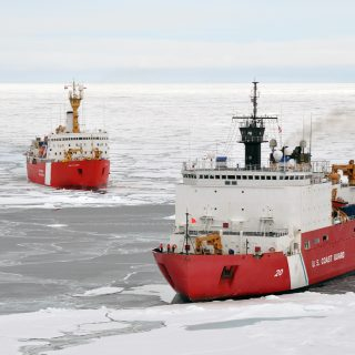 Icebreakers_Louis_S._St-Laurent_and_Healy_in_the_Arctic_Ocean