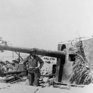 Japanese_14cm_Guns_on_Tarawa,_Pacific_Ocean,_1943,_WWII