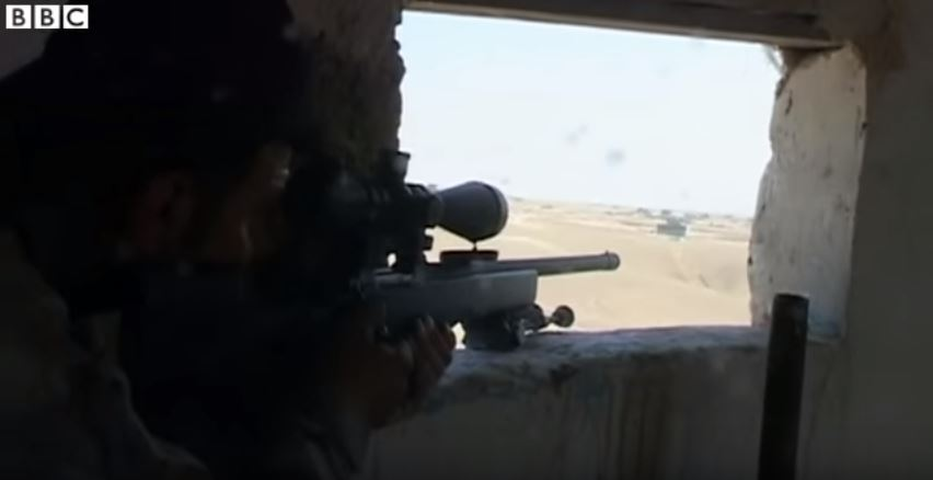 (WATCH) Kurdish Snipers Pick Off ISIS Targets Featured